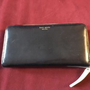 Kate Spade Black Smooth Leather Wallet